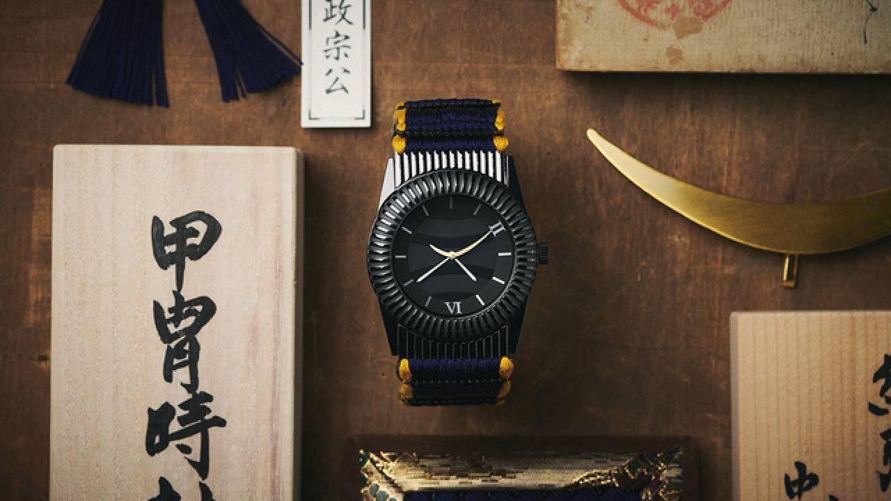 斬新な甲冑パーツ!戦国武将・伊達政宗の甲冑「黒漆五枚胴具足」をベースにした腕時計が誕生