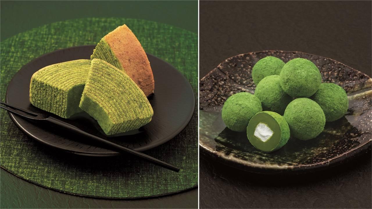 「伊右衛門」こだわりの茶葉を使用した、厚切り抹茶バウムクーヘン&お濃茶チョコが新発売
