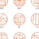 銀行印にも使えちゃう!幾何学的でグラフィカルな印影のタイポグラフィ・ハンコ「GRAPH」